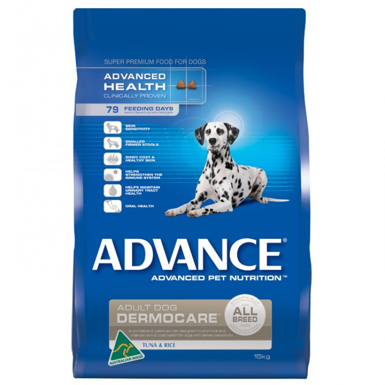 ADVANCE DERMOCARE ADULT DOG FOOD – TUNA & RICE 15KG